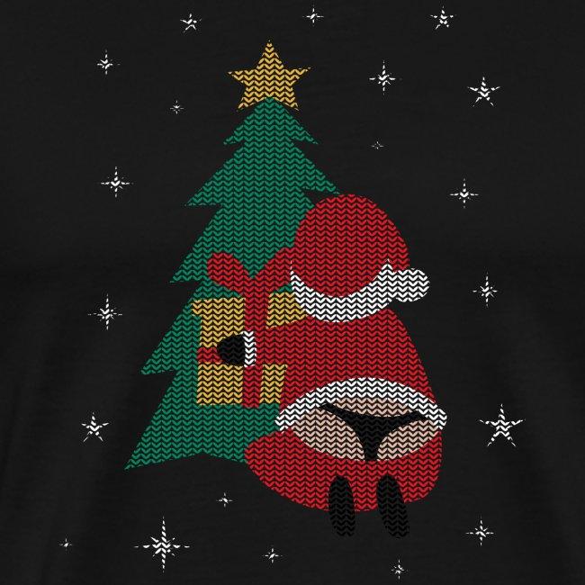 Ugly Christmas Sweater String Thong Santa
