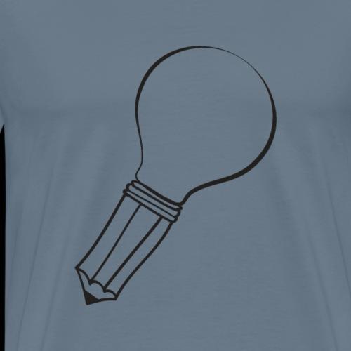 Light Bulb Pencil | Good Idea - Men's Premium T-Shirt