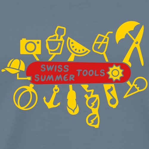 Swiss Summer Knife - Men's Premium T-Shirt