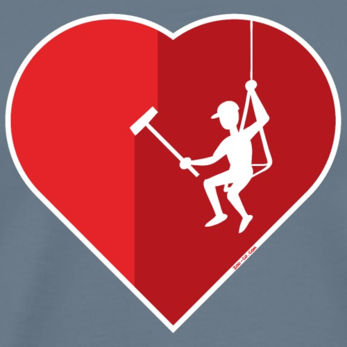 Heart cleaning by a professional window cleaner - Men's Premium T-Shirt