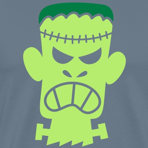 Angry Halloween Frankenstein - Men's Premium T-Shirt