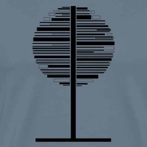 Circle black and white Tree - Men's Premium T-Shirt