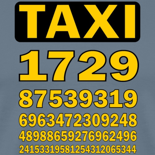 Taxicab numbers - Men's Premium T-Shirt