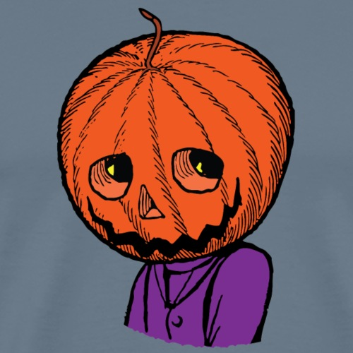 Pumpkin Head Halloween - Men's Premium T-Shirt