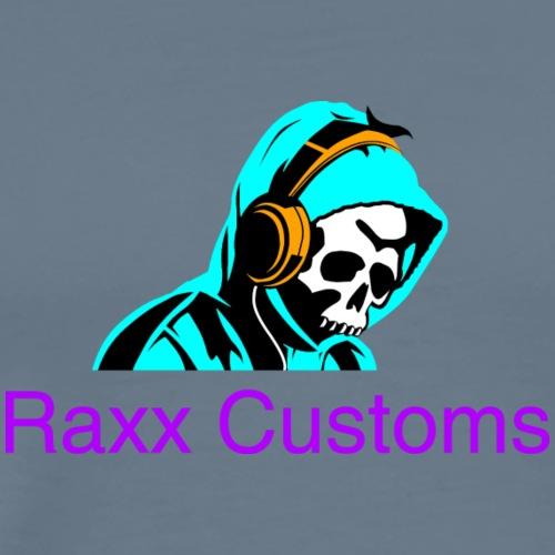 SKULL RAXX CUSTOMS logo turqoise - Men's Premium T-Shirt