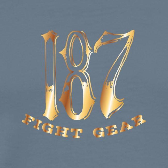 187 Fight Gear Gold Logo Street Wear