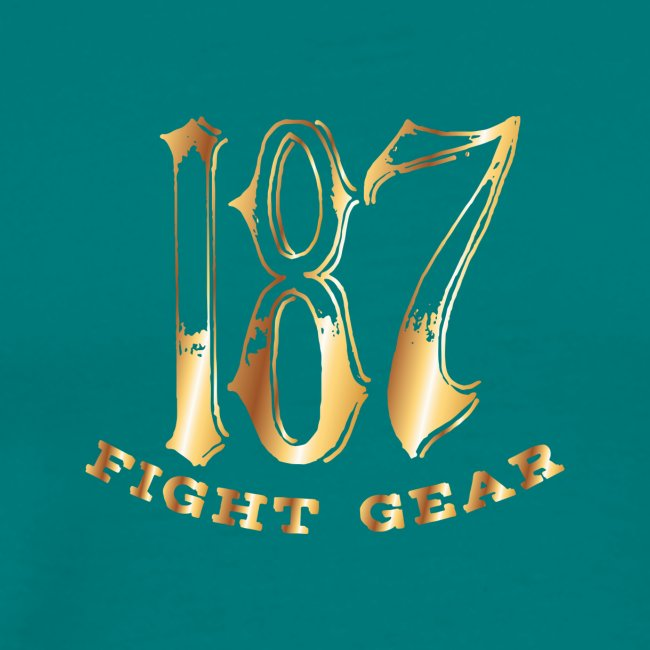 187 Fight Gear Gold Logo Street Wear