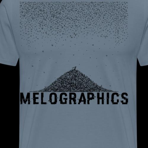 Falling Letters - Men's Premium T-Shirt