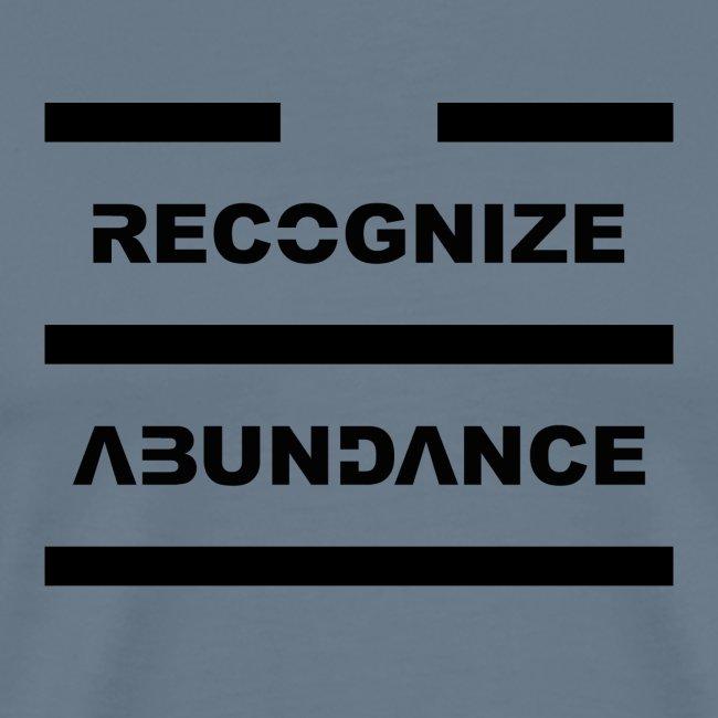 Recognize Abundance Black Letters