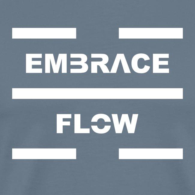 Embrace Flow White Letters