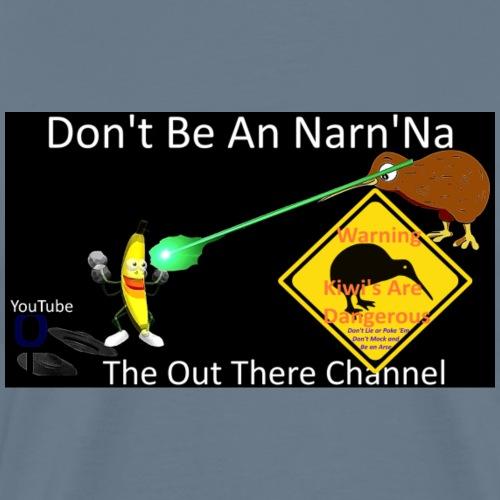 NarnNa1 logo with back Large Blackops crew logo - Men's Premium T-Shirt