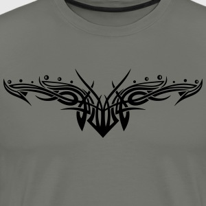 Tribal ornament, filigree style. - Men's Premium T-Shirt