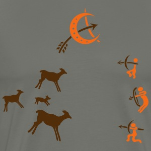 Cave, cave painting, hunter, survival - Men's Premium T-Shirt