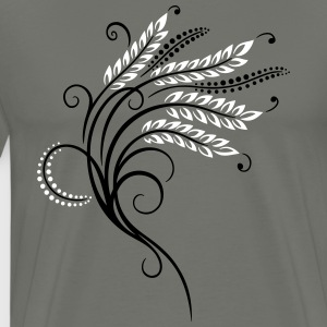 Filigree grain ears, baker, bakery - Men's Premium T-Shirt