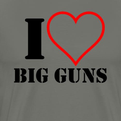 I Heart Big Guns - Men's Premium T-Shirt