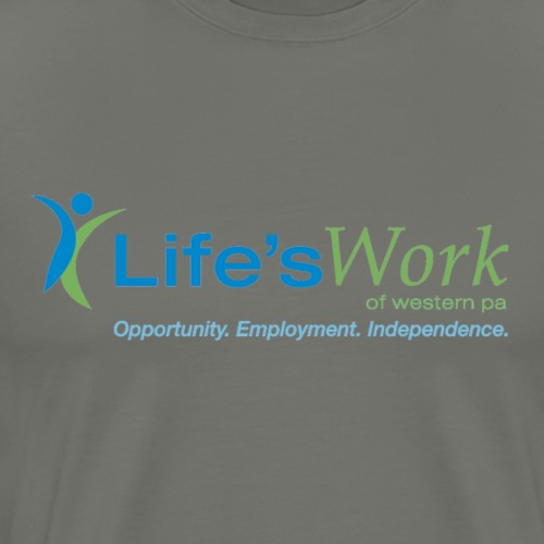 Life'sWork Standard Logo - Dark Grey - Men's Premium T-Shirt