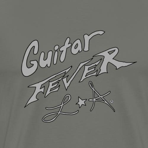 GUITAR FEVER LOGO: SILVER - Men's Premium T-Shirt