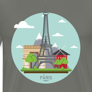 Paris France Eiffel Tower Tourist Souvenir - Men's Premium T-Shirt