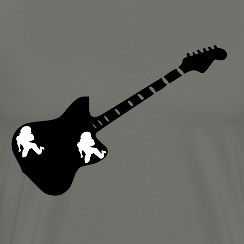 Guitar chick - Men's Premium T-Shirt