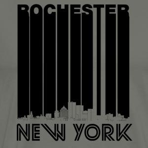 Retro Rochester New York Skyline - Men's Premium T-Shirt