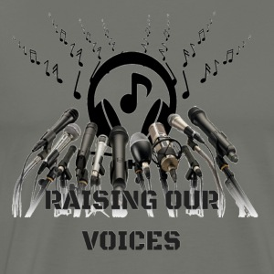 CC ARTS Designs Raising Our Voices - Men's Premium T-Shirt