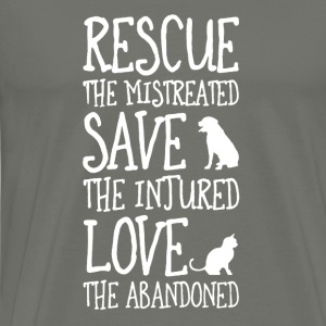 rescued the mistreated save the injured - Men's Premium T-Shirt