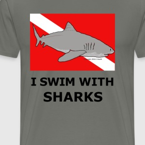 Shark Diver - Men's Premium T-Shirt