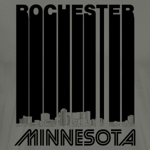 Retro Rochester Minnesota Skyline - Men's Premium T-Shirt