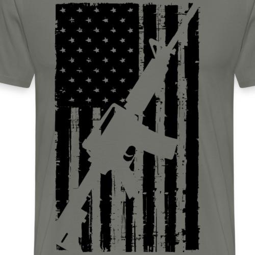 American Flag AR15 - Men's Premium T-Shirt