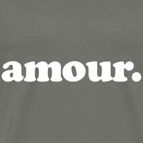 Amour - Fun Design (White Letters) - Men's Premium T-Shirt