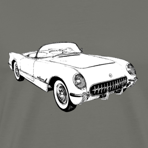 1955 Chevrolet Corvette Convertible - Men's Premium T-Shirt