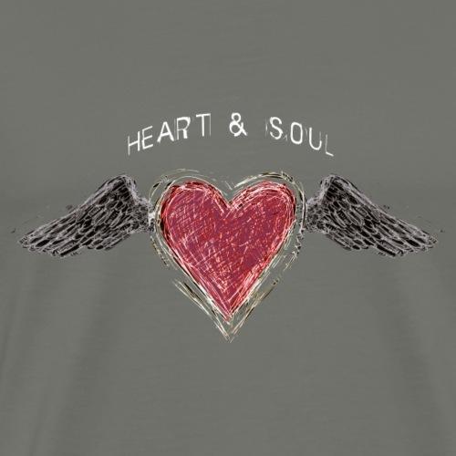 Heart and Soul (b) - by Fanitsa Petrou - Men's Premium T-Shirt