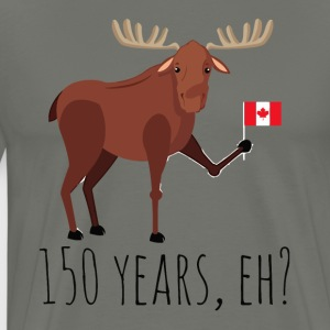 Moose Canadian Flag 150 Year Canada Celebration Da - Men's Premium T-Shirt