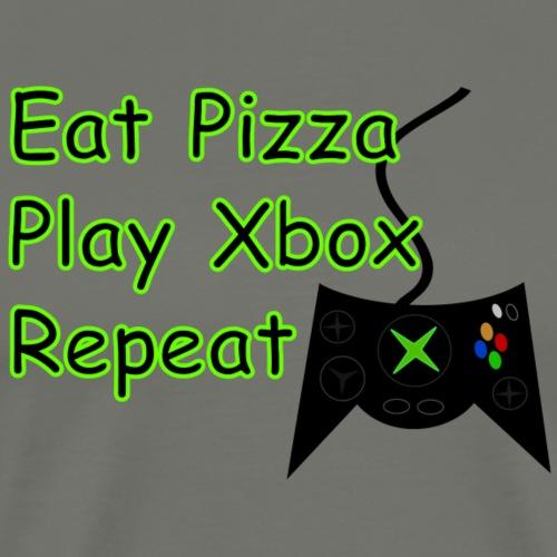 Eat Pizza Play Xbox Repeat - Men's Premium T-Shirt