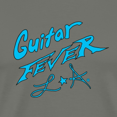 GUITAR FEVER LOGO: L.A. SKY BLUE - Men's Premium T-Shirt