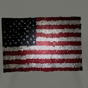 stain glass flag2 - Men's Premium T-Shirt