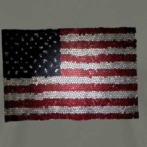 stain glass flag2 - Men's Premium T-Shirt