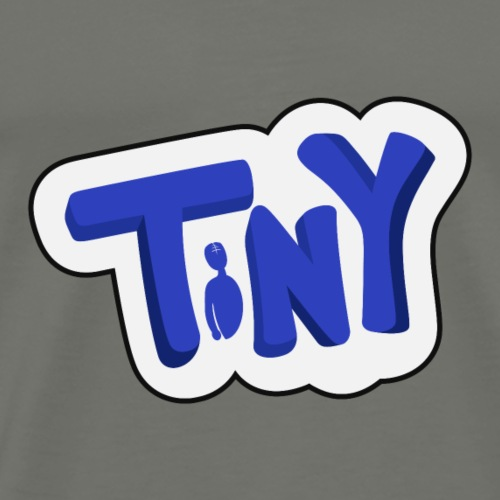 Tiny-Logo-Blue-White - Men's Premium T-Shirt