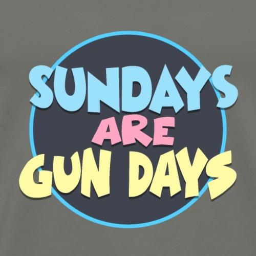 sundays are gun days - Men's Premium T-Shirt