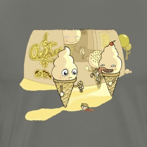 Eating ice cream in a parallel universe - Men's Premium T-Shirt