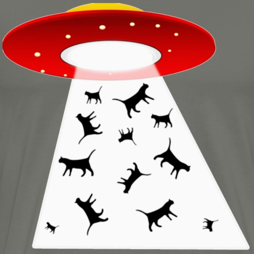 Alien Cat Attack! - Men's Premium T-Shirt