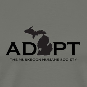 Black Adopt Michigan Logo - Men's Premium T-Shirt