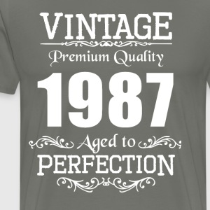 Vintage Premium Quality 1987 Aged To Perfection - Men's Premium T-Shirt