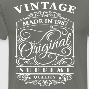 Vintage Made in 1987 Original - Men's Premium T-Shirt