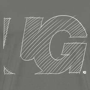 Urban Gorilla Wear Logo sketch White - Men's Premium T-Shirt