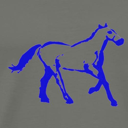 cyber booby newhorseblue - Men's Premium T-Shirt