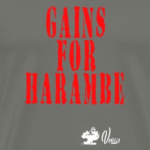Gains for Harambe - Men's Premium T-Shirt