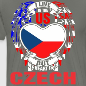 I Live In The Us But My Heart Is In Czech - Men's Premium T-Shirt