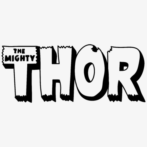 The Mighty Thor Logo (Black and White) - Men's Premium T-Shirt