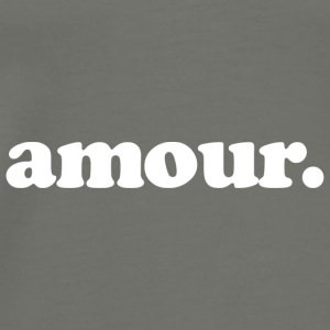 Amour - Fun Design (White Letters) - Men's Premium T-Shirt